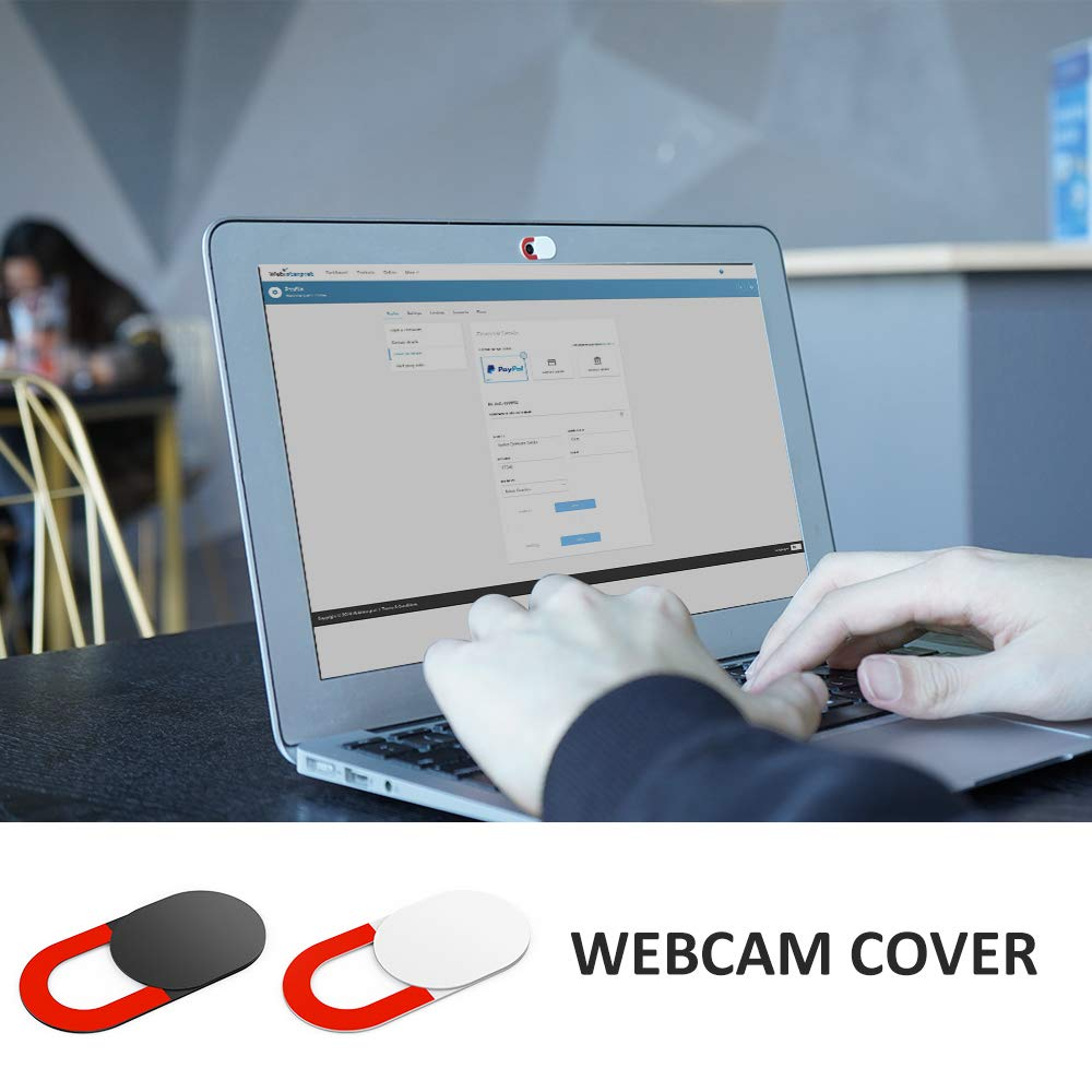 KIWI design Webcam Abdeckung 6er Pack mit Reinigungstuch