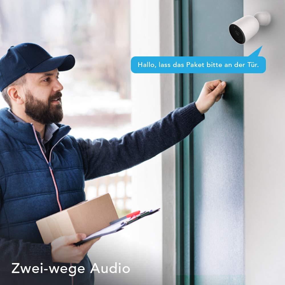 Nooie Überwachungskamera Aussen WLAN IP Kamera 1080P HD IP66 wasserdichte