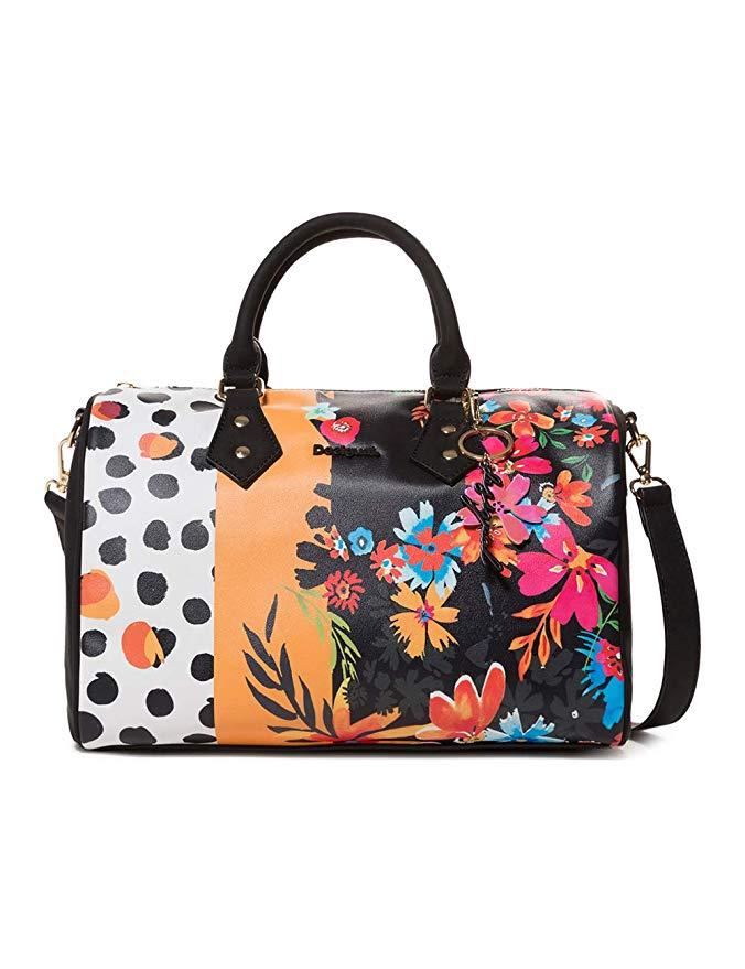 Desigual CARMELA PATCH BOWLING Handtaschen femmes Schwarz/Multifarben Handtasche