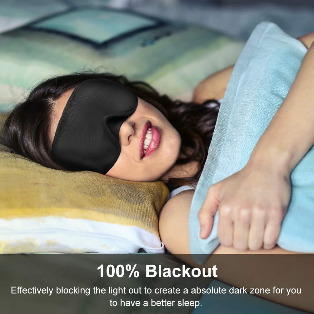 Schlafmaske, PRETTY SEE Schlafbrille, 3D konturierte komfortabler Augenbinde