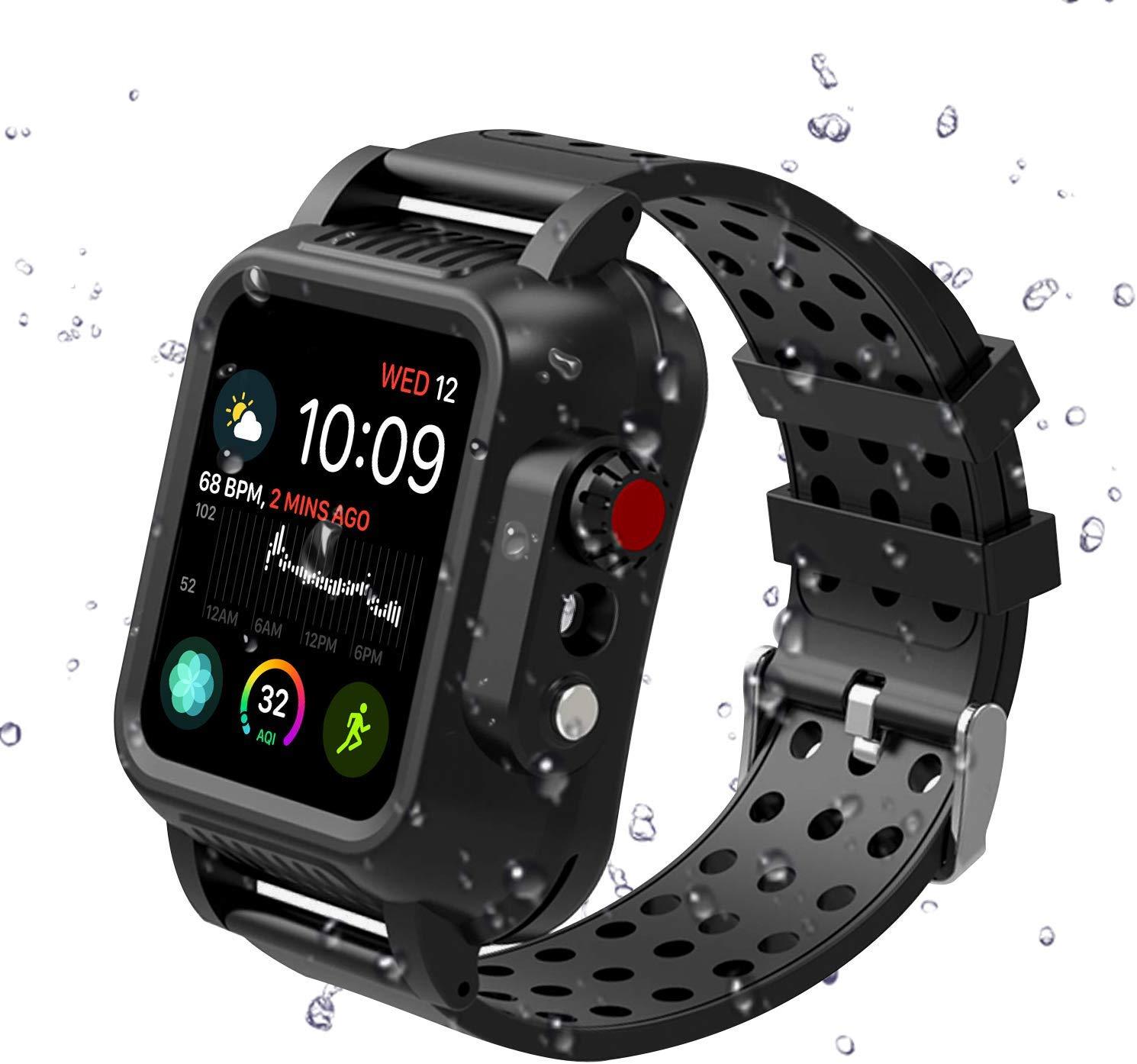 Apple Watch Series 4 44mm Band, Hertekdo IP68 Apple Watch 4 Waterproof Case 44mm