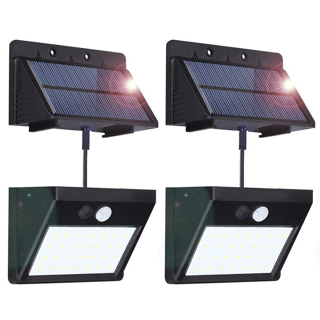 Solarleuchte für Außen [Trennbarer Solarpanel] BILLION DUO 30LED Solarlampe mit Bewegungsmelder,3 Modi Solarleuchte