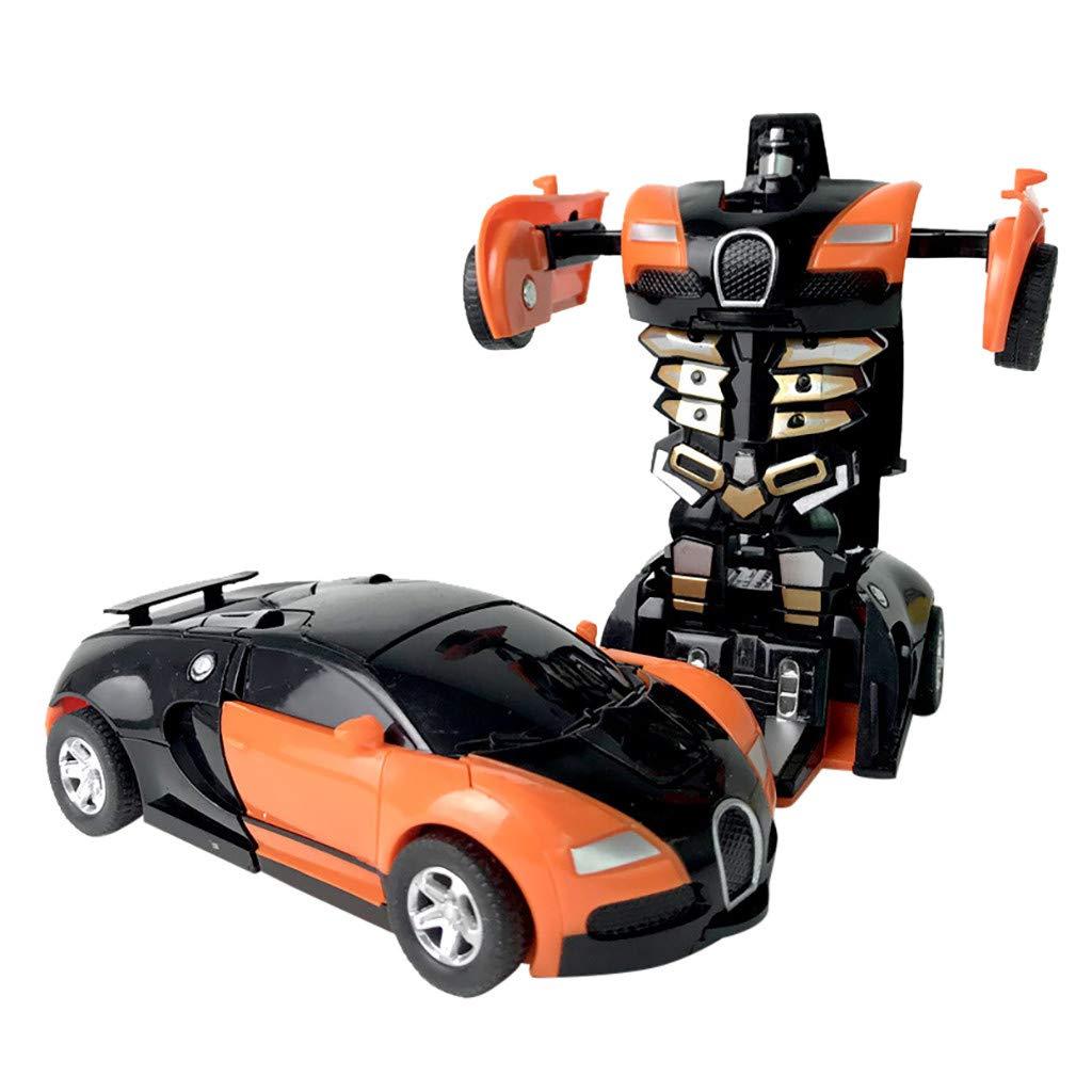 90% off Auto Spielzeug, QHJ Klein Roboter Auto 1:32 Ziehen Sie das Zusammenstoß 12.5CMX6CM Auto Kinderverformungs Auto Roboter-Spielzeug
