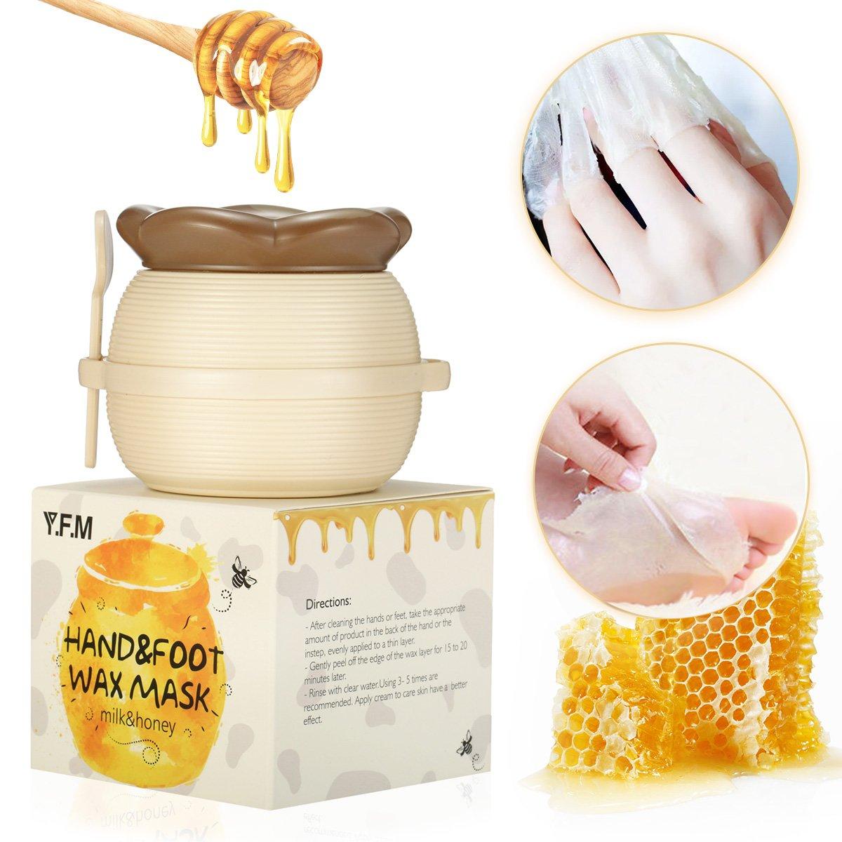 Hand Wachs, Luckyfine Milch & Honig Exfoliating Entfernen abgestorbene Haut Maske