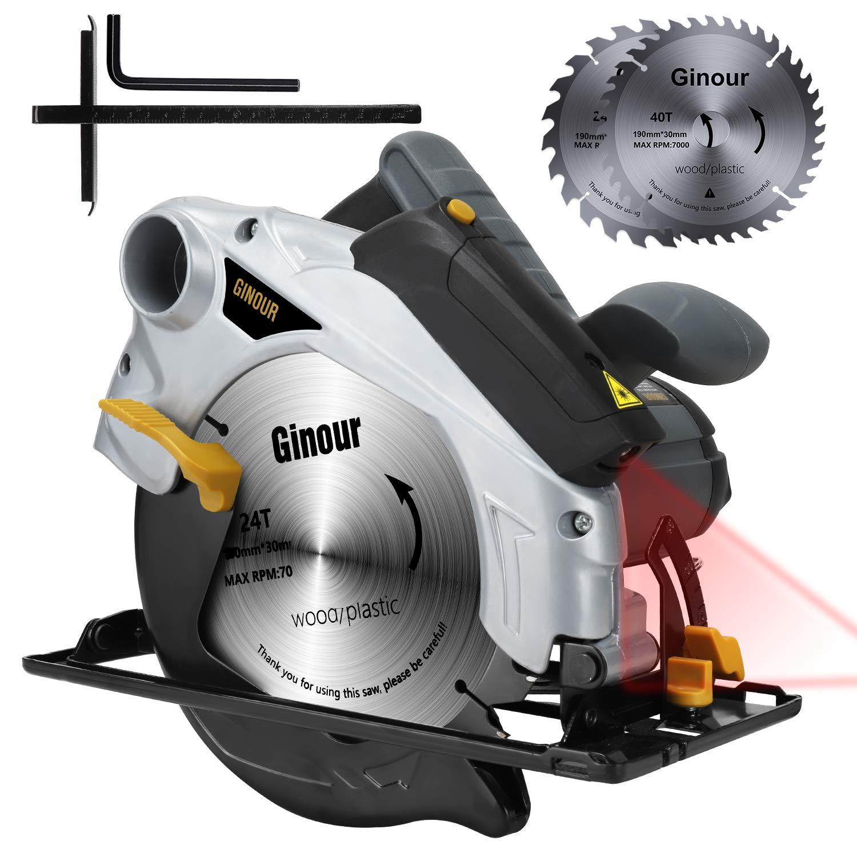 Handkreissäge, Ginour Professional Kreissäge 1500W 4700 RPM