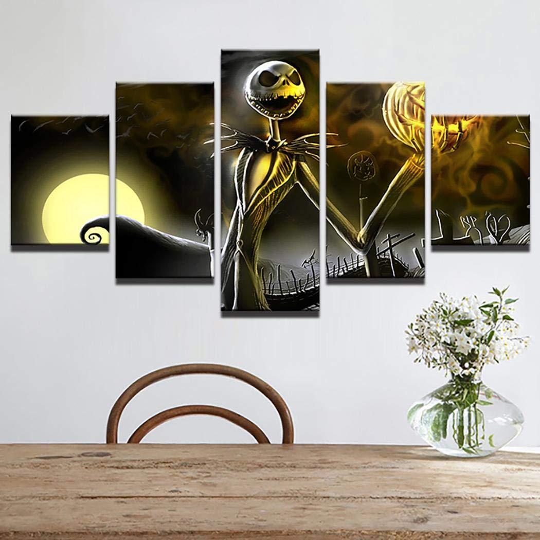 Leinwand Wandkunst Bilder Home Decor 5 Stücke Home Wohnzimmer Dekor Kürbis Halloween Leinwand Wandkunst Bilder Malerei Gemälde