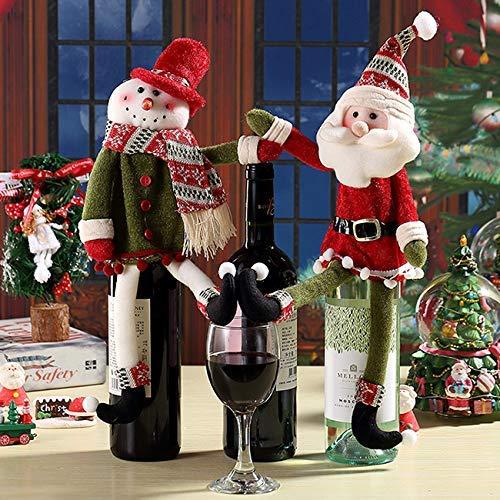 Gifts Treat Weihnachten Rotweinflasche Cover Taschen Wein Geschenk