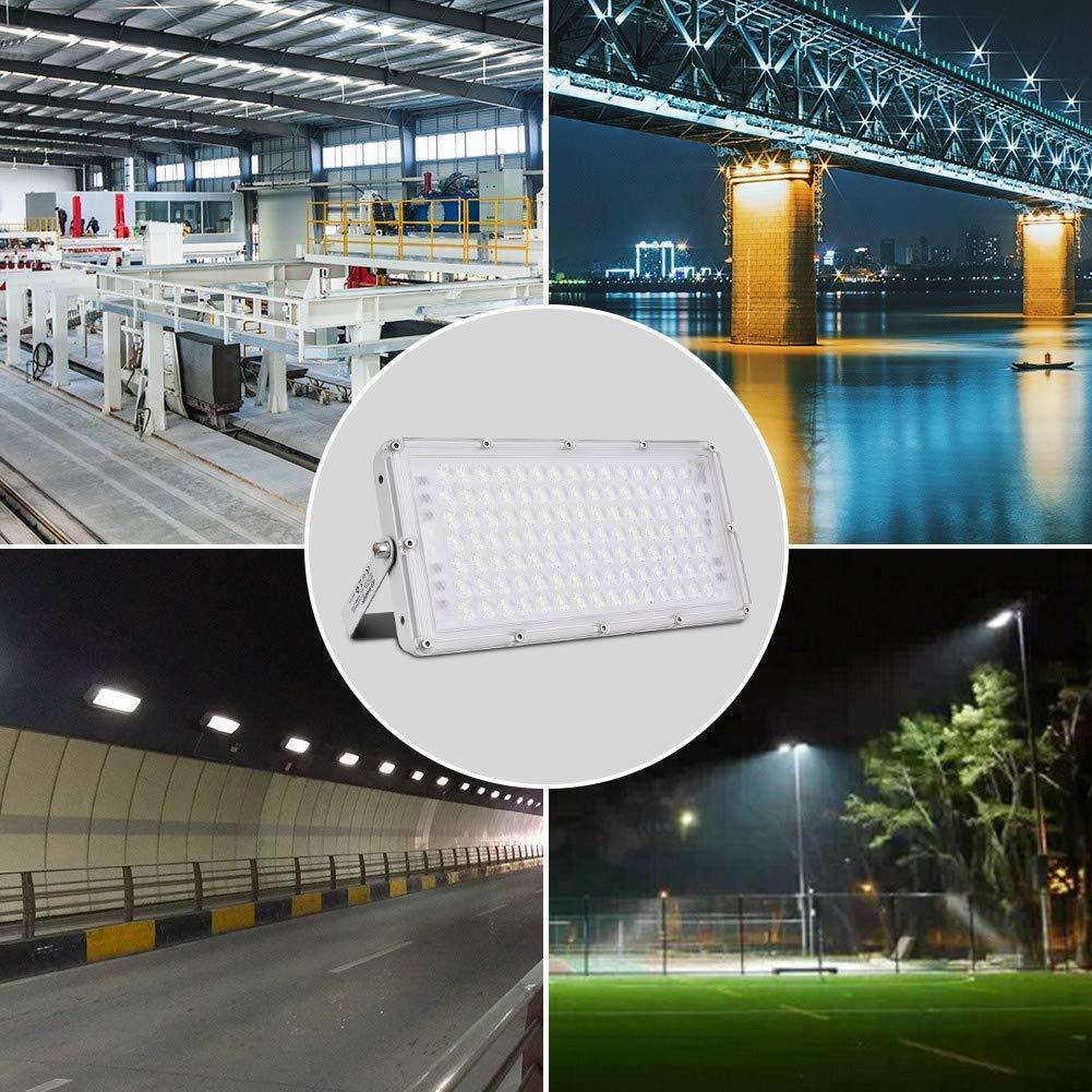 LED Fluter, Sararoom LED Strahler Außen 100W led lampe Scheinwerfer Flutlicht Superhell Kaltweiß 10000LM IP65 Wasserdicht