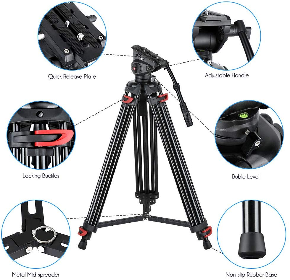 Heavy Duty Video Tripod, Video Tripod System Camera Tripod