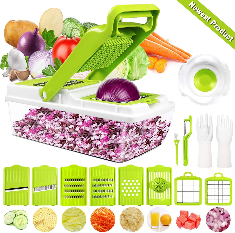 🍀🍀Gewinnspiel🍀🍀 — 9 in 1 Vielseitiger Gemüsehobel Kartoffelschneider