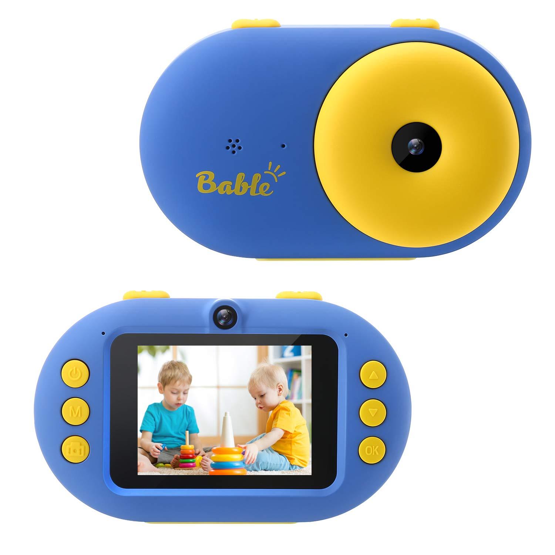 Bable Kinderkamera 2.4″ Digitalkamera für Kinder, 1080P HD Kinder wasserdichte Kamera