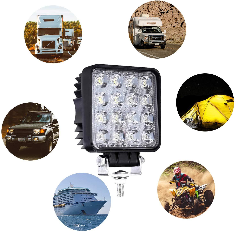 Hengda 2x48w Led Arbeitsscheinwerfer-IP67 Wasserdicht Arbeitsleuchte 4320 LM,10-30V DC,6500KLED Zusatzscheinwerfer