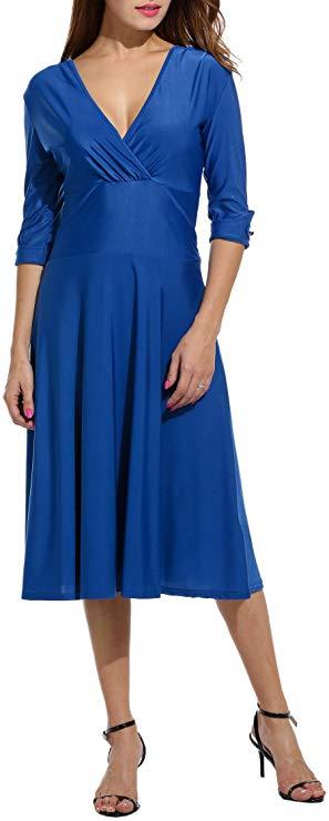 Unibelle Damen Kleid Elegant Business Kleider T-Shirt Abendkleid