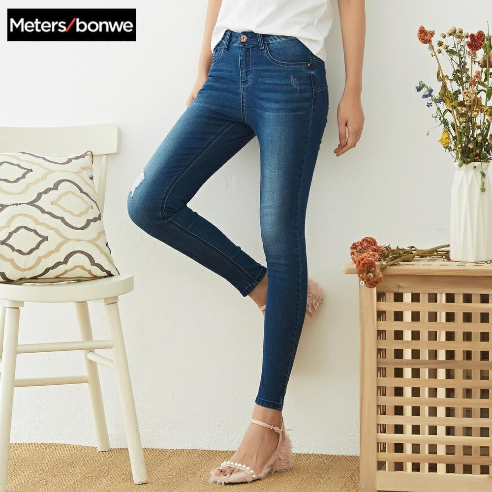 Metersbonwe Schlank Jeans Für Frauen Jeans
