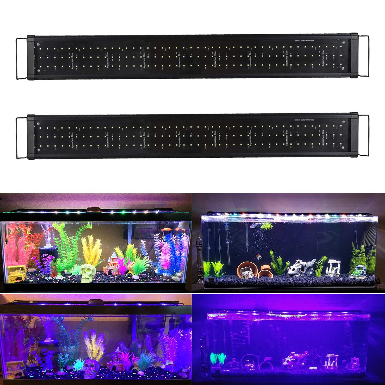 wolketon LED Aquarium Beleuchtung Universal Aquarium Lampe LED Pflanze