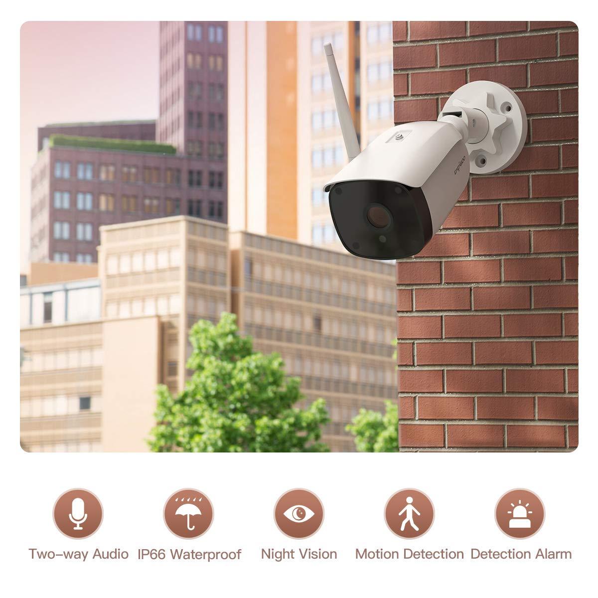 Überwachungskamera Aussen WLAN,CACAGOO WLAN IP Kamera Außenbereich