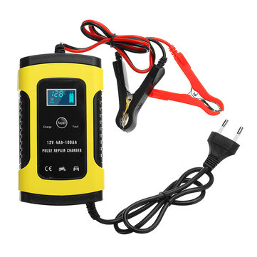 12V 6A Pulse Repair LCD Battery Charger For Car Motorcycle Lead Acid Battery Agm Gel Wet