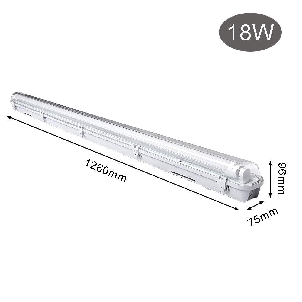 18W LED Feuchtraumleuchte Warmweiß 1.2M