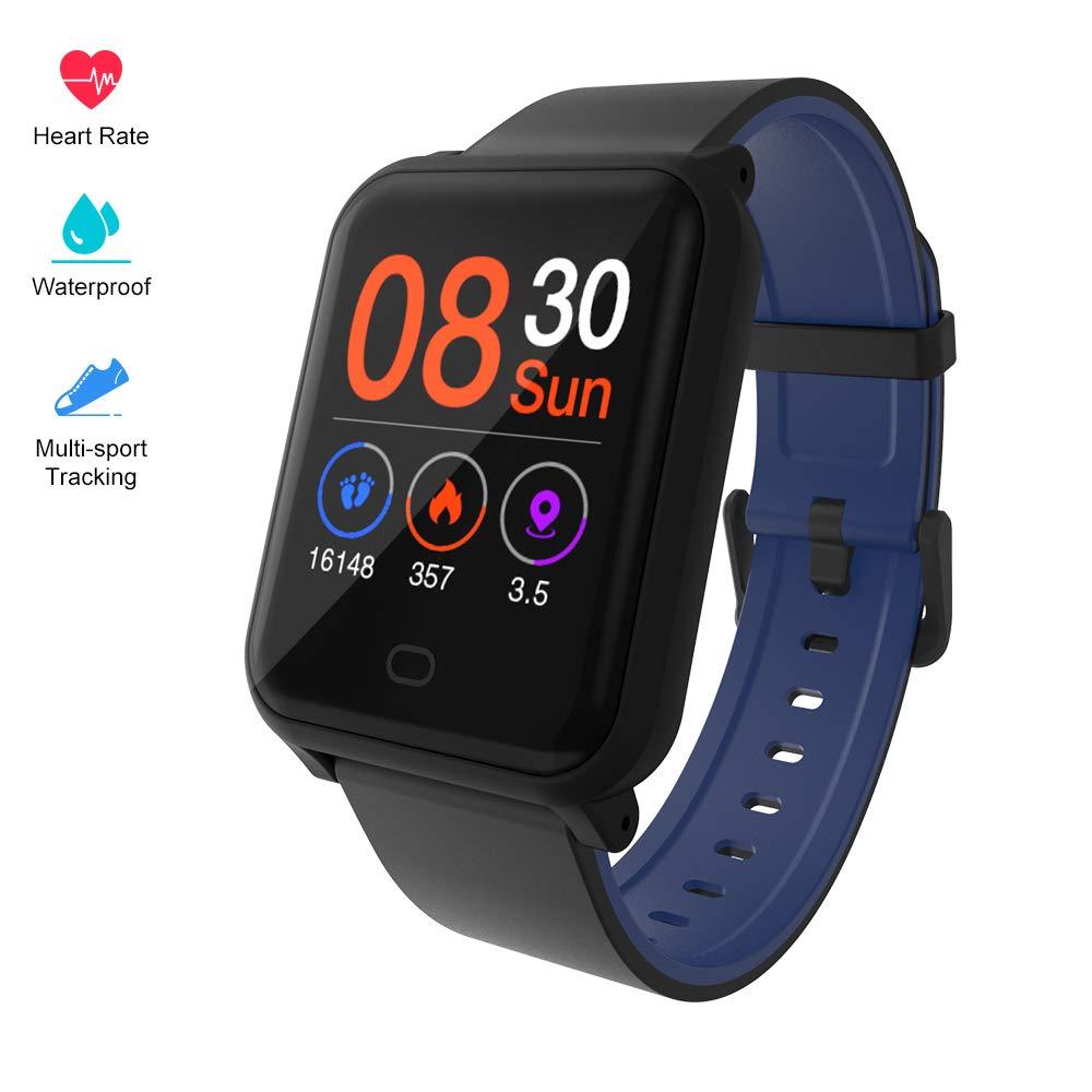 Fitpolo Farbbildschirm Fitnessuhr, IP67 Wasserdicht Aktivitäts-Tracker