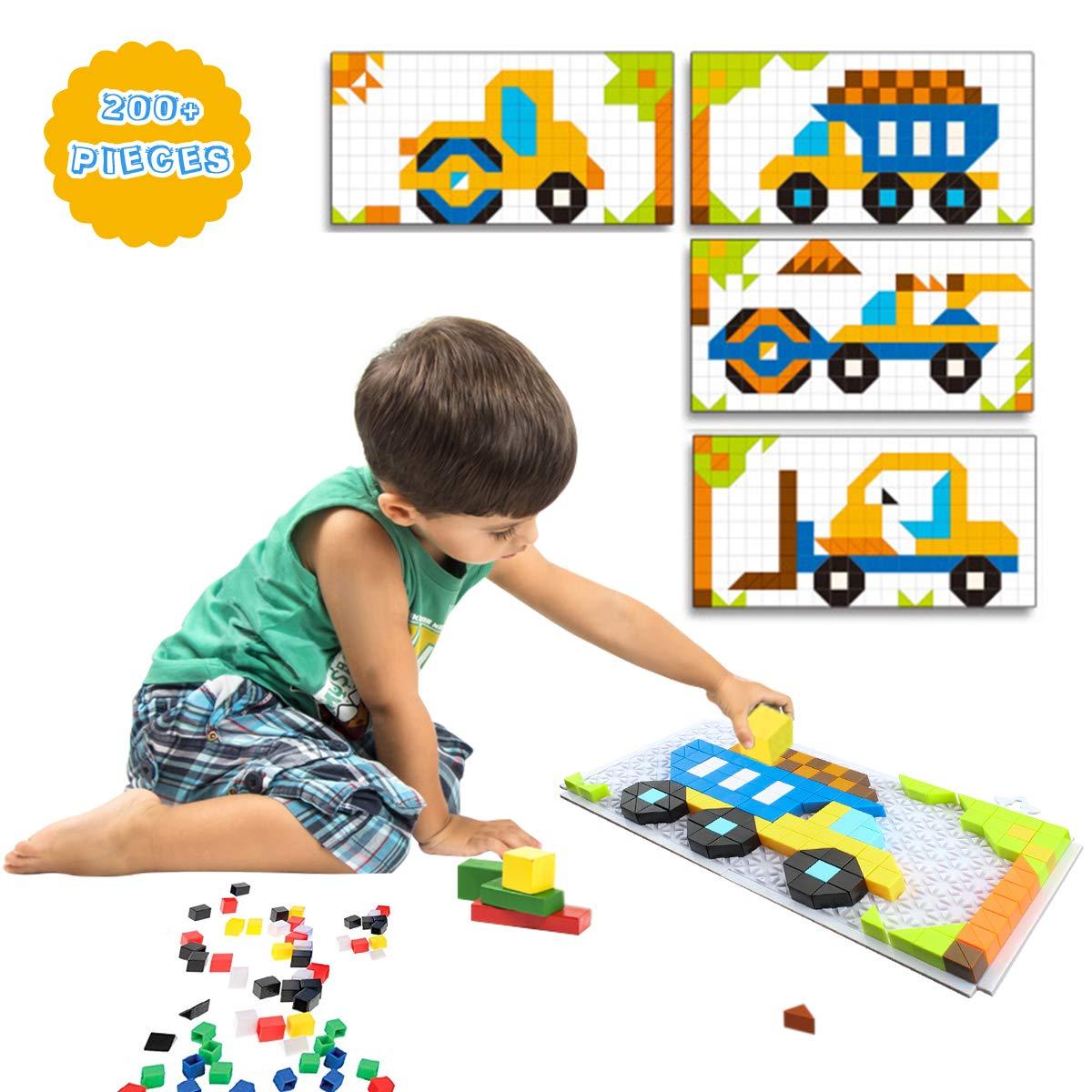 Pickwoo Kinder Puzzle Bausteine Steckspiel DIY Pädagogisches Spielzeug Steckspielzeug Geschenkset