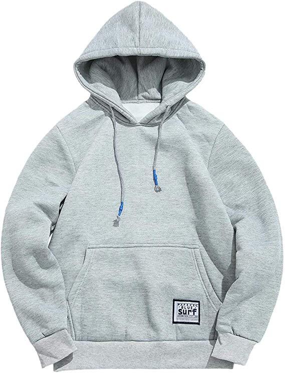 ZAFUL Herren Basic Kapuzenpullover mit Kängurutaschen Fleece Hoodie Sweater