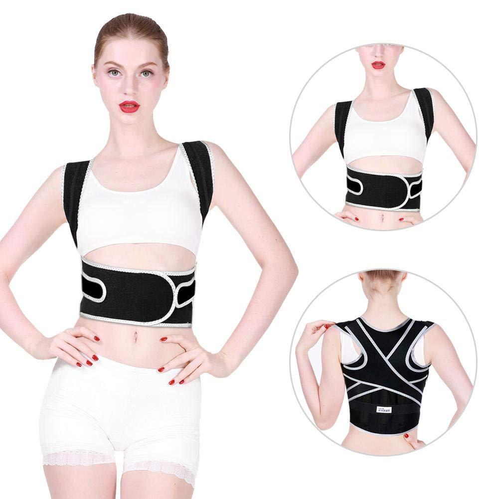Greeflu Körperhaltung Korrektor Brace, Verstellbarer Lendenwirbel-Schultergurt Kyphosis Korrekter Verband