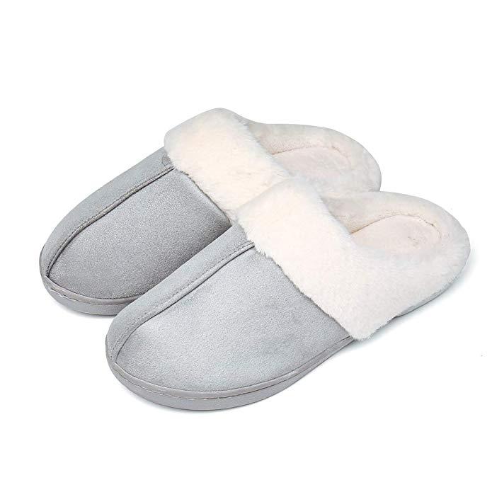 UBFEN Herren Damen Winter Hausschuhe Memory Foam Pantoffeln Home Wärme Halten Schuhe House Drinnen und Draußen