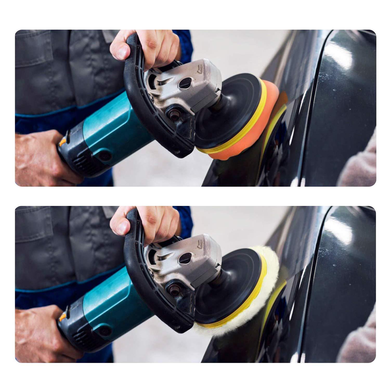 Hengda Polierschwamm Auto Set, 22 Stück Polierset mit Wollpolster für Lackpflege