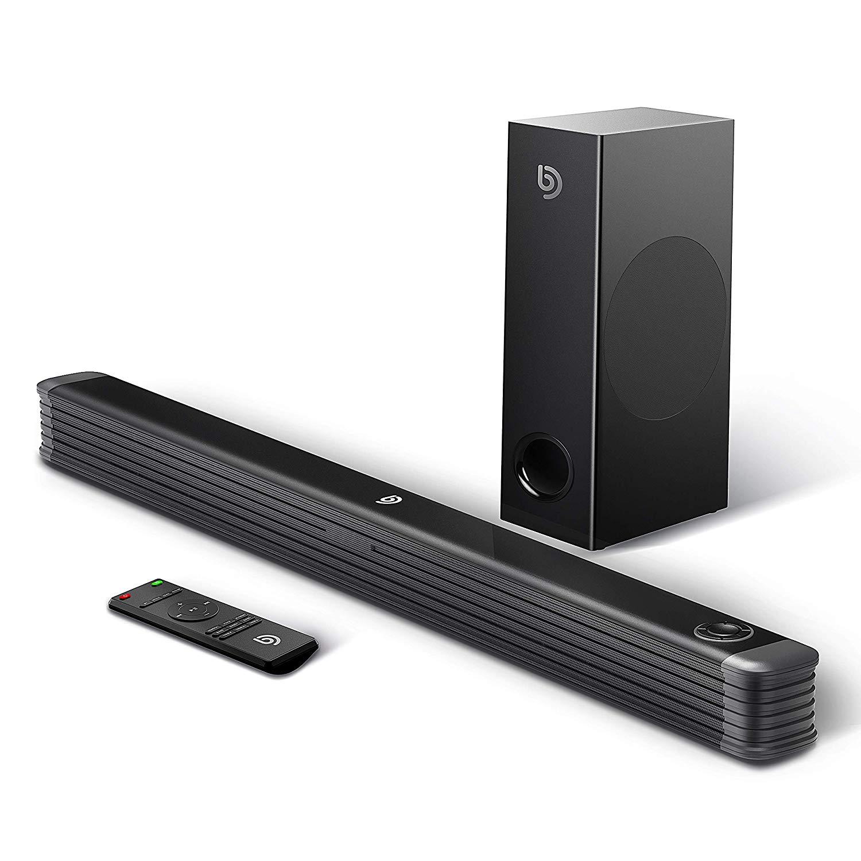 Soundbar mit Wireless Subwoofer 2.1 Kanal,BOMAKER 150W 35 Zoll Bluetooth 4.2 Lautsprecher