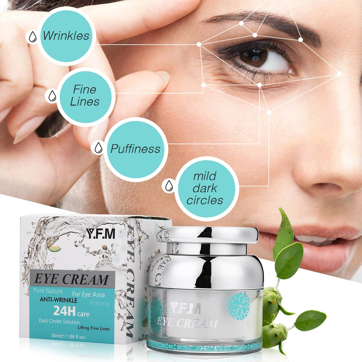 Augencreme, Y.F.M Augenpflege Anti-Falten und Aging Creme Schwellungen & Fältchen