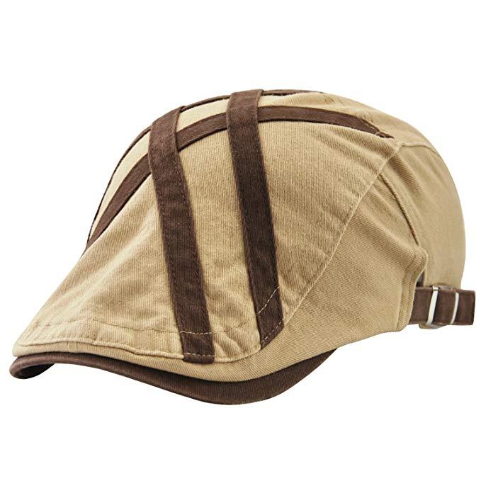 UNIQUEBELLA Herren Baseballmütze Schirmmütze Baumwolle Zeitungsjunge Mütze Kappe Flatcap