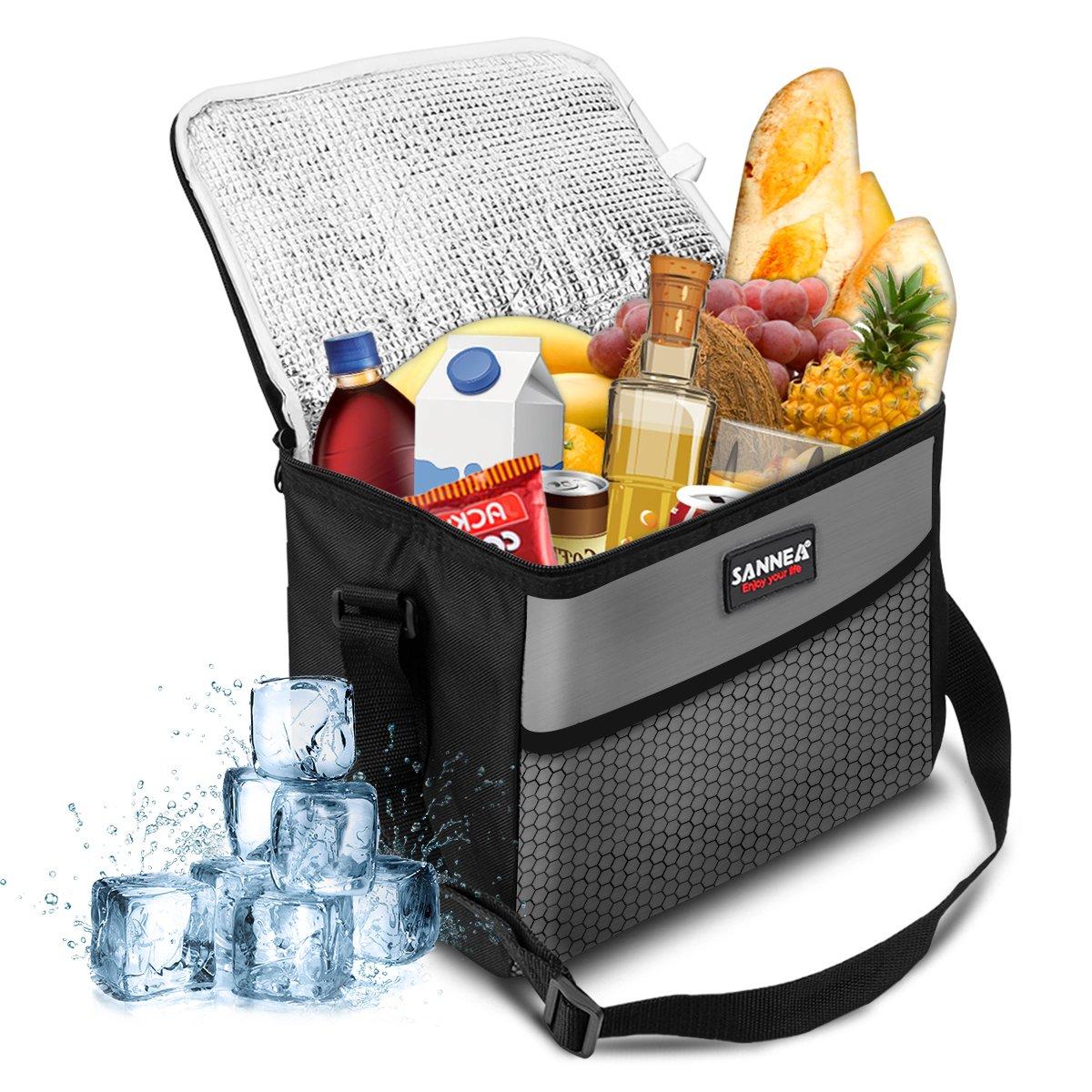 NASUM Kühltasche Picknicktasche Thermotasche Lunch Tasche isolierte Sanne Kühlbox Lebensmitteltransport