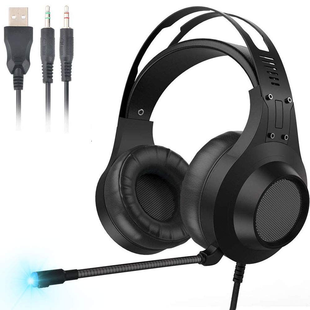 GIARIDE Gaming Headset Surround Stereo Gaming Kopfhörer mit weichen, atmungsaktiven Ohrenschützern
