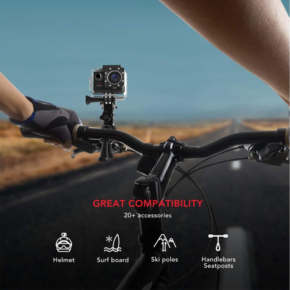 Victure Actioncam Full HD 1080P 12MP 170° Weitwinkel wasserdichte Aktionkameras