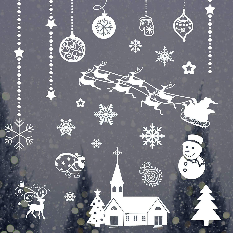 LANMOK 12Stk Weihnachten Fenstersticker
