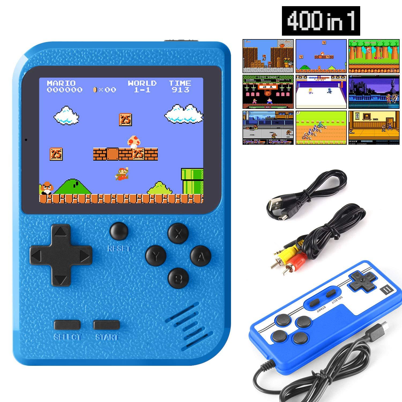 ETPARK Handheld Spielkonsole, 400 Klassische Spielen 2.8-Zoll-LCD-Bildschirm tragbare Retro-spielkonsole
