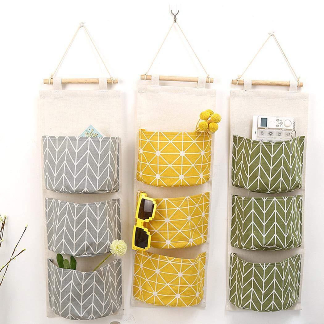 80% off Küche Haushalt Hängen Aufbewahrungstasche Wand Montiert 3 Taschen Hängen Veranstalter Schrankordnungssysteme