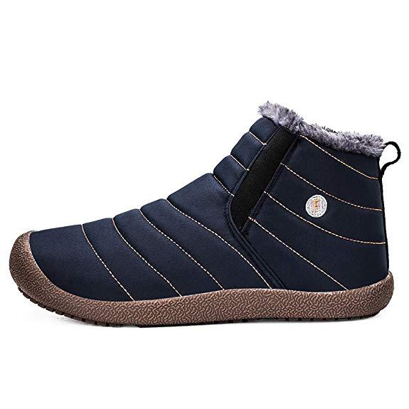 Warm Gefüttert Boots Wasserdicht Stiefel Winterschuhe Winterstiefel Kurzschaft Schneestiefel Outdoor Schlupfstiefel
