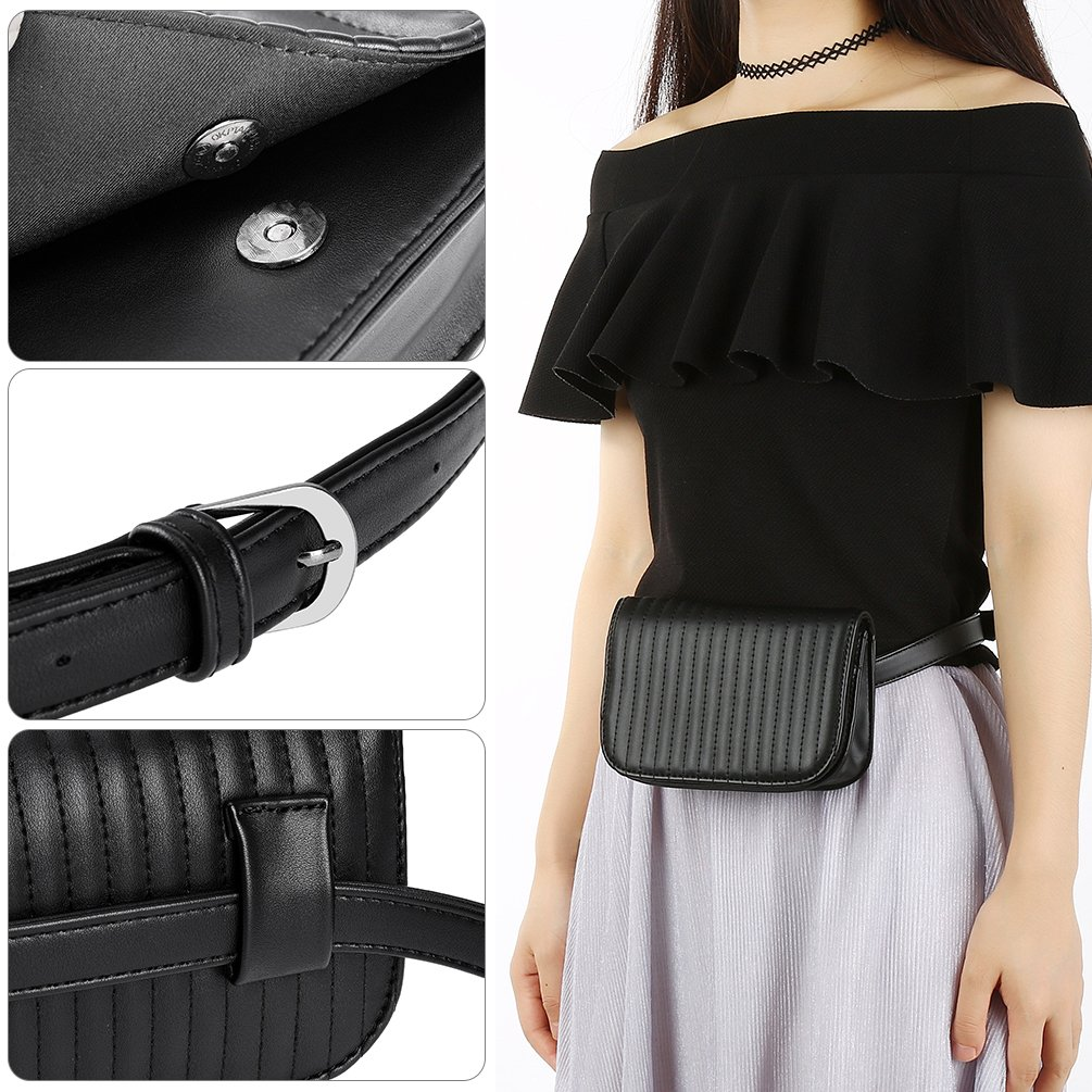 Vbiger Gürteltasche Damen Bauchtasche Hüfttaschen Fanny Pack Tasche für Frauen