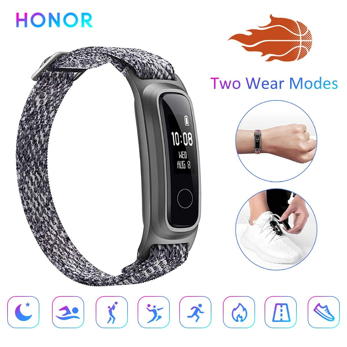 HONOR Band 5 Sport Fitness smart Armband Basketball-Überwachungsfunktion