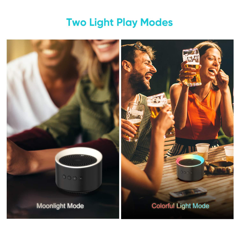 AXLOIE Wireless tragbarer Lautsprecher Bluetooth 5.0 intensiver Bass HiFi Stereo Sound
