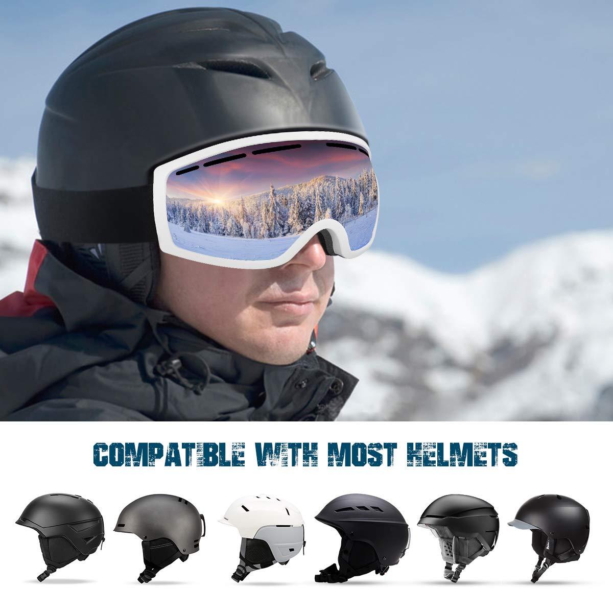 Baban Skibrille, Schutzbrille zum Skifahren, UV-Schutz, Anti-Fog, Snowboardbrille