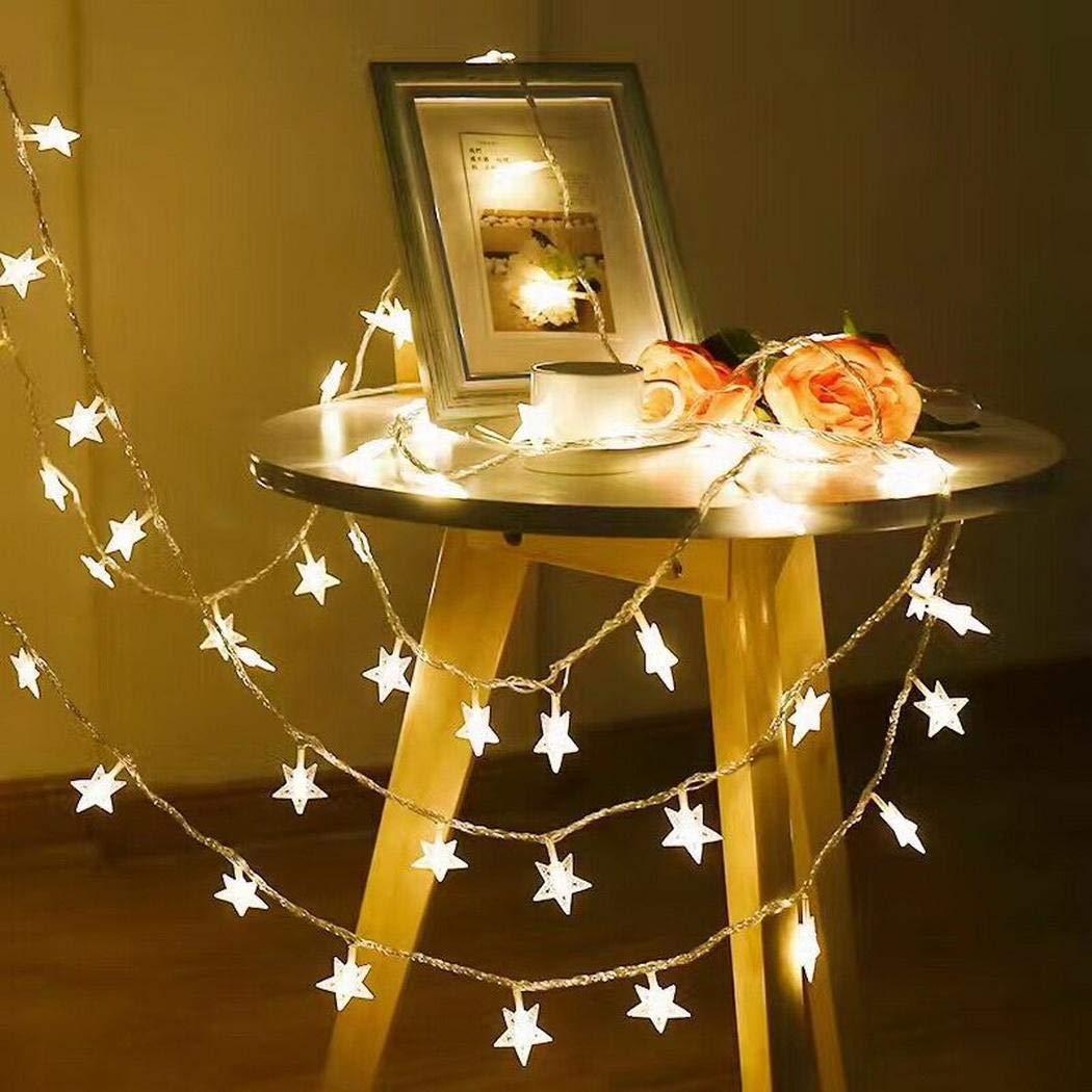 80% off Hauptschlafzimmer-Stern-geometrischer Warmer LED-Vorhang-Licht-Streifen Spezial- & Stimmungsbeleuchtung