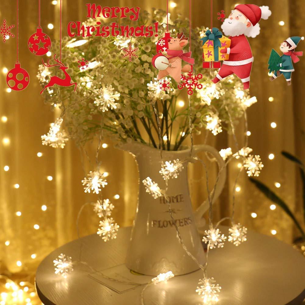 LED String Licht 10m 100 LED Warmweiß 8 Modi LED Lichterkette Weihnachtsbeleuchtung