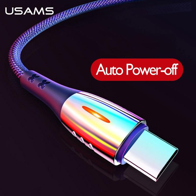 USAMS Smart Power off QC3.0 Typ C Lade schutz Kabel