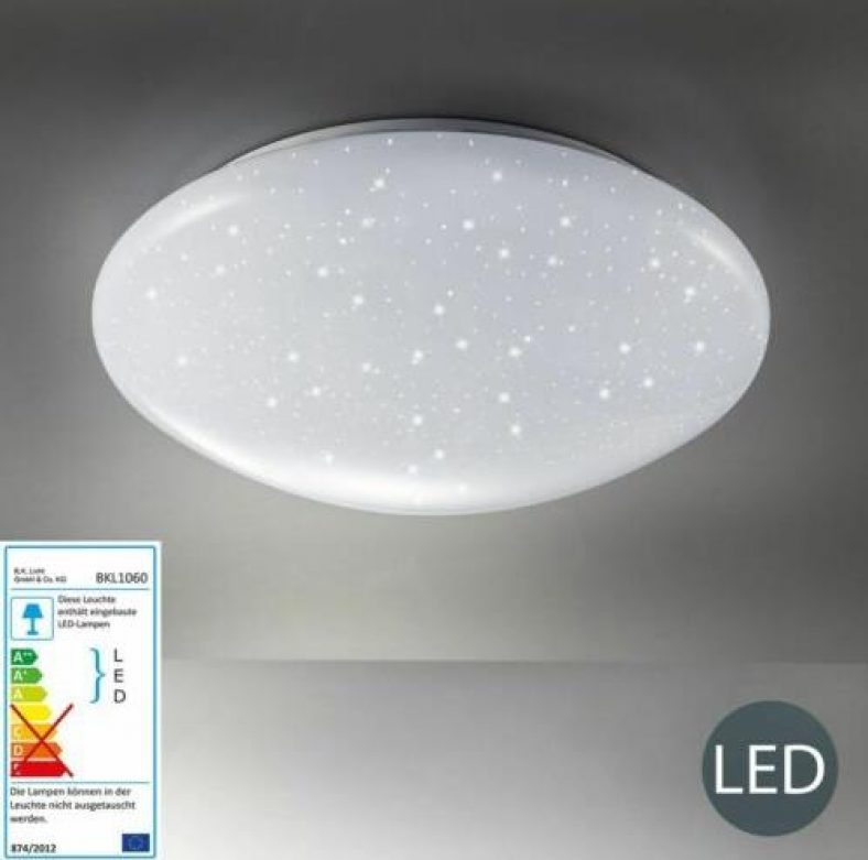 LED Decken-Leuchte Sternen-Licht Glitzer-Lampe Badleuchte Schlafzimmer B.K.Licht