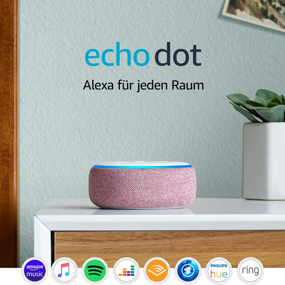 🍀🍀Gewinnspiel🍀🍀 — Echo Dot (3. Gen.) Intelligenter Lautsprecher mit Alexa
