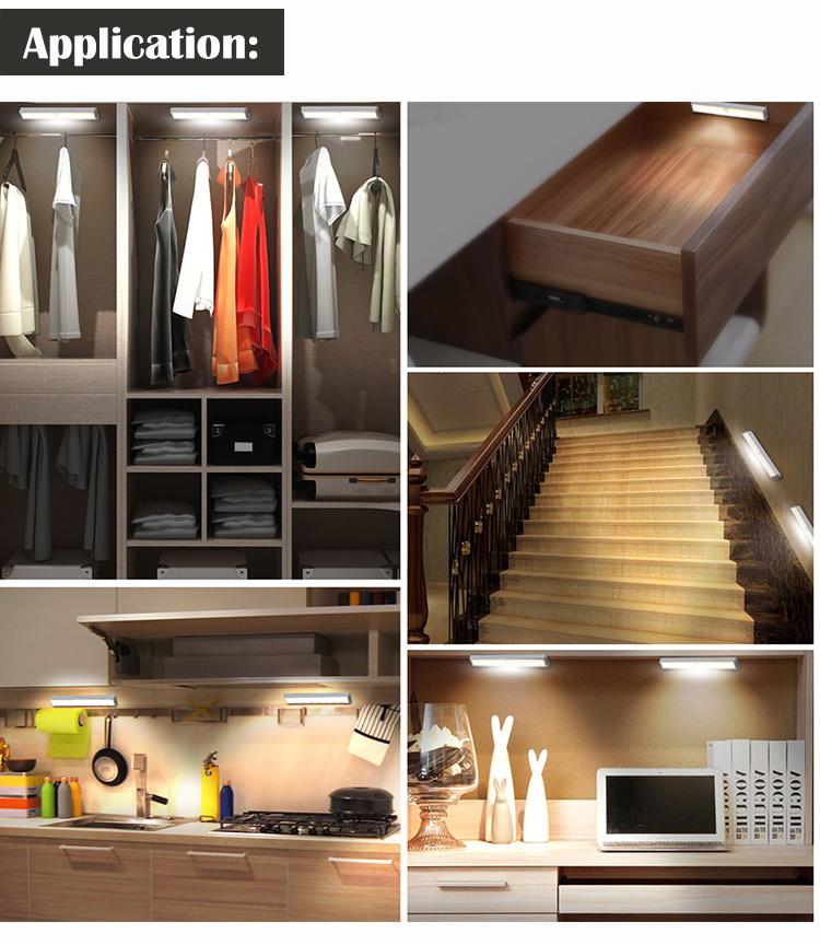 PIR motion sensor LED Unter Kabinett Licht für Schrank Garderobe