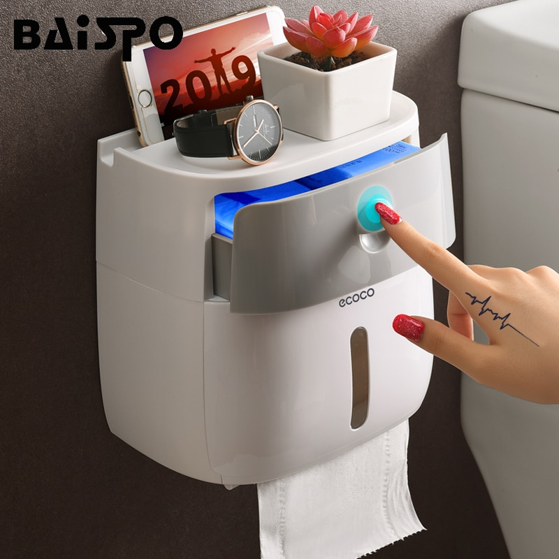BAISPO Doppel Schicht Wc Papier Halter Wasserdichte Lagerung Box