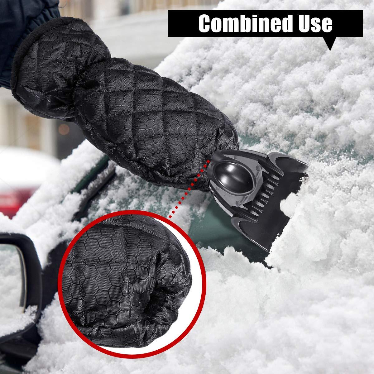 Baban Eiskratzer Auto, Eisschaber mit warmen Handschuhen